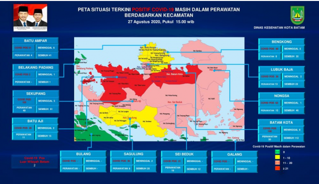 Ini Daftar Kecamatan Di Kota Batam Yang Masuk Zona Merah Merah Muda Kuning Dan Hijau Batampos Co Id